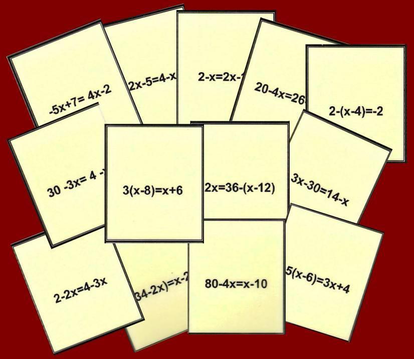 Bingo Matematico De Ecuaciones De Primer Grado Nivel I Juegos Y