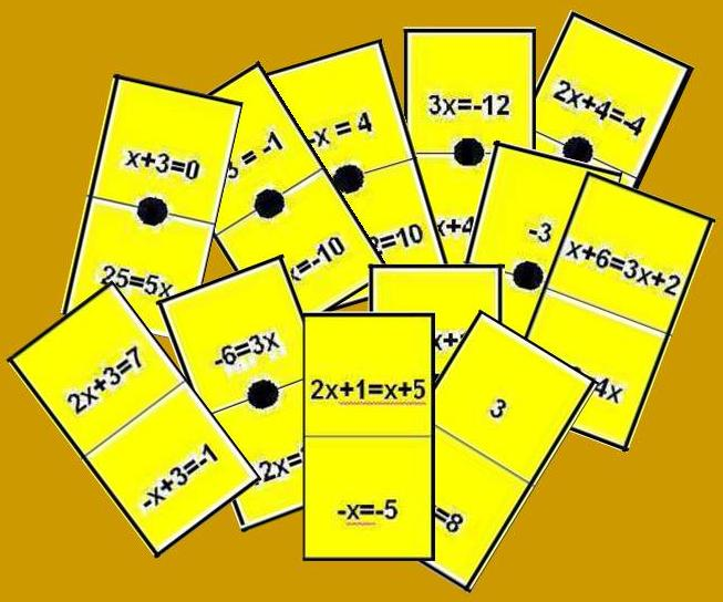 Domino De Ecuaciones De Primer Grado Juegos Y Matematicas