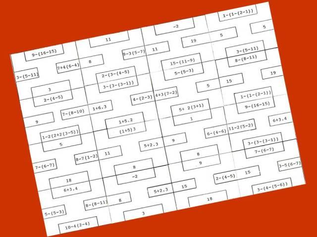 PUZLE BLANCO DE JERARQUÍA DE LAS OPERACIONES | Juegos y matemáticas