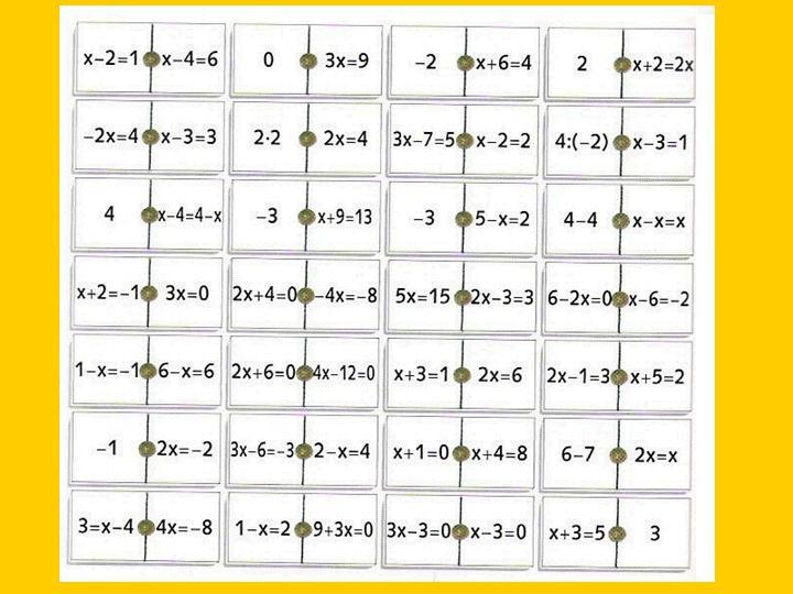Domino De Ecuaciones De Primer Grado Muy Sencillas Juegos Y