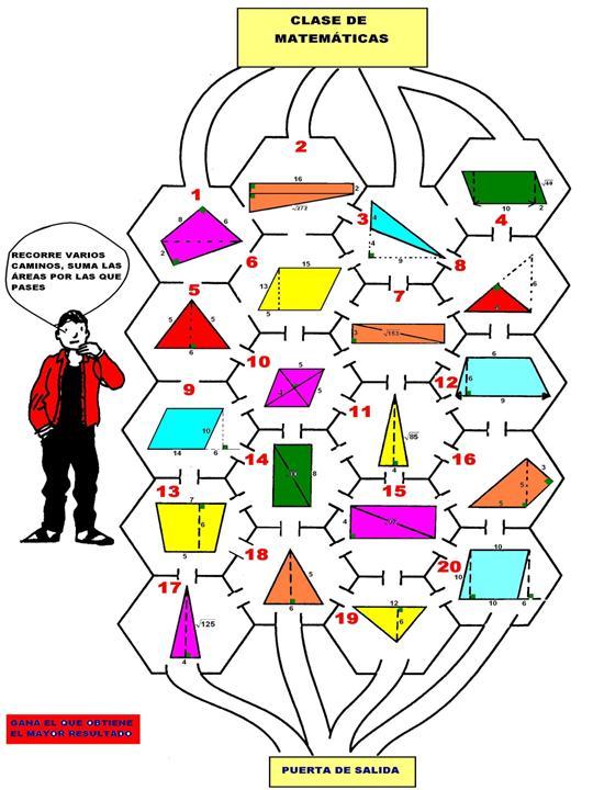 Resultado de imagen de areas delos poligonos