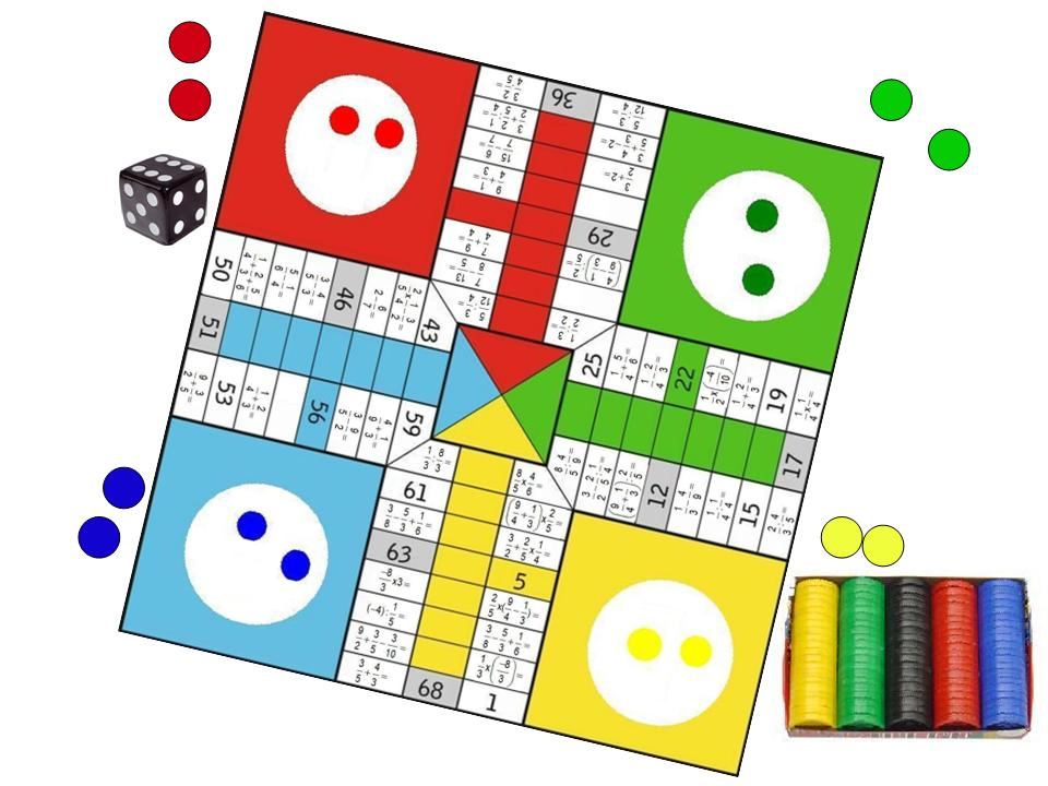 Parchis De Fracciones Juego Juegos Y Matematicas