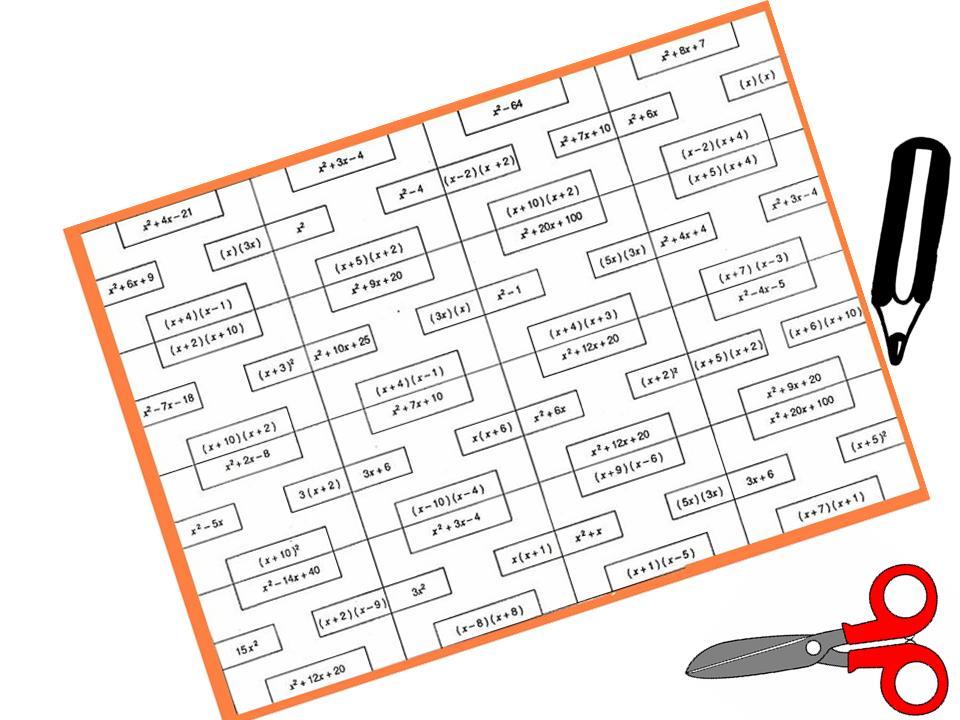 Puzzle Blanco De Polinomios I Juegos Y Matematicas Sokolvineyard Com