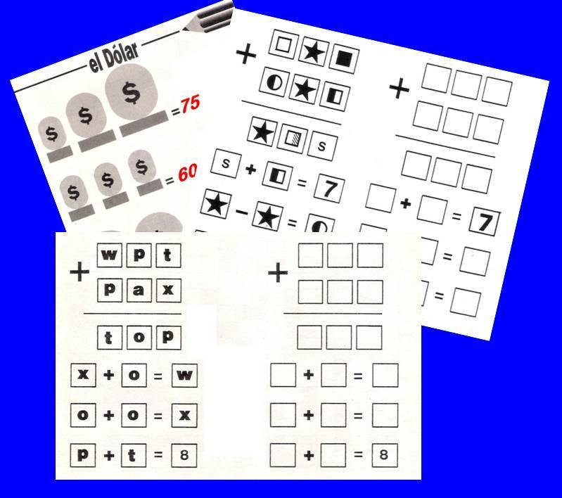 Sistemas De Ecuaciones En Forma De Pasatiempos Juegos Y Matematicas