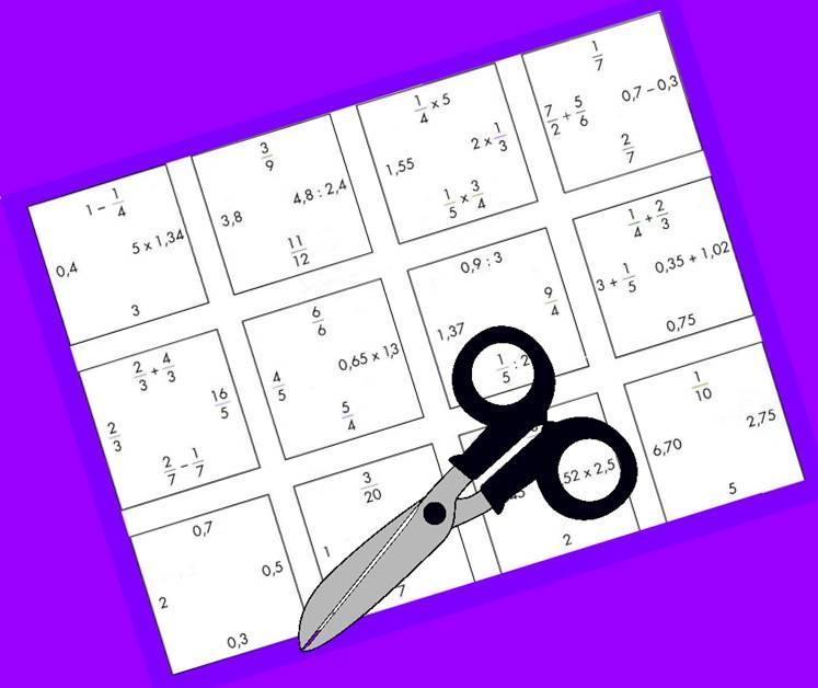 PUZZLE DE FRACCIONES Y DECIMALES (Nivel Inicial)   Juegos y matemáticas