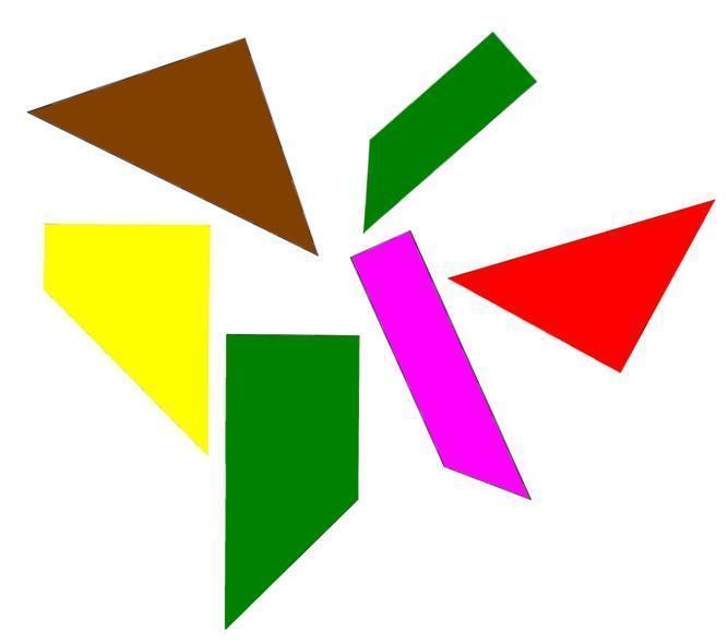 Puzzle tangram de las seis piezas juegos y matem ticas for Piezas de la regadera