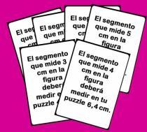 Cartas del puzzle de semejanza y proporcionalidad
