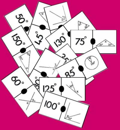 Domino de angulos ejemplos de fichas