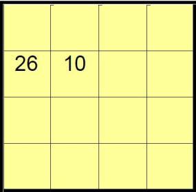 Cuadrado magico algebraico 2