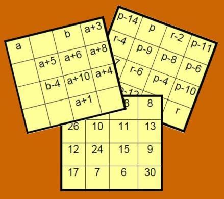 imagen del cuadrado magico algebraico II