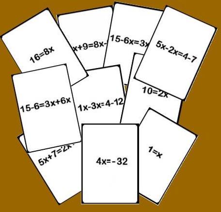 Baraja De Pasos De Una Ecuacion Juegos Y Matematicas