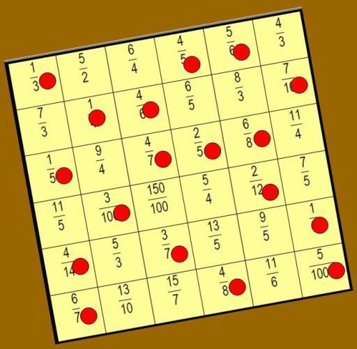 imagen del tablero: encontrar la fracción