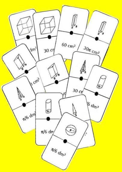 imagen de las fichas del dominó de volúmenes