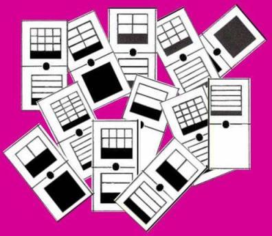 domino de fracciones como partes de un todo