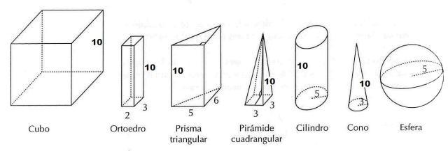 los 7 cuerpos del espacio del dominó de volumenes.