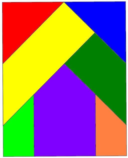 tangram de la cruz rota