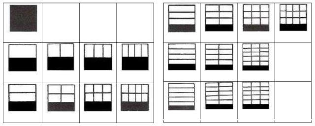 fracciones del dominó de partes de un todo