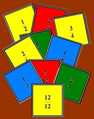 imagen de las cartas del memory de fracciones