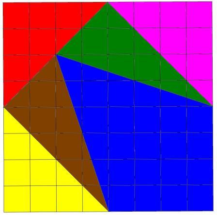 Puzzle de los triangulos con seis piezas