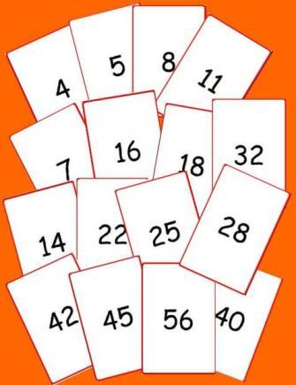 baraja de las cartas de numeros