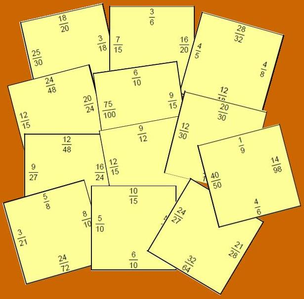 PUZZLE BLANCO DE FRACCIONES EQUIVALENTES: Nivel 1   Juegos y matemáticas