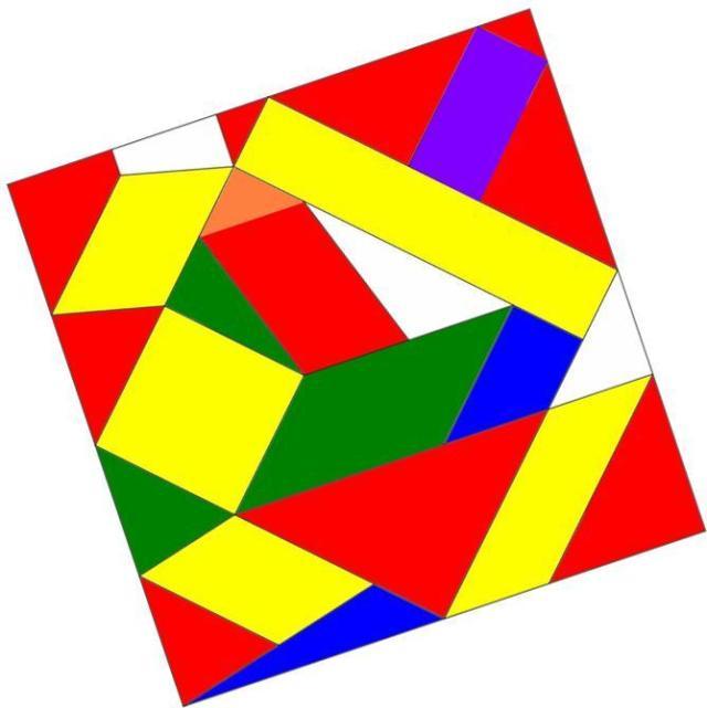 puzzle de las figuras del plano