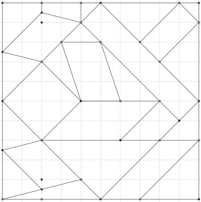 Puzzle figuras del plano con vertices y cuadricula