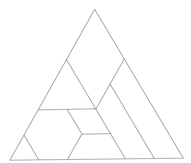 Tangram triangular