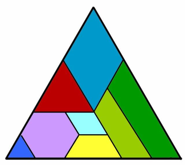 Tangram triangular color