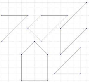 Piezas del puzzle sobre una cuadricula