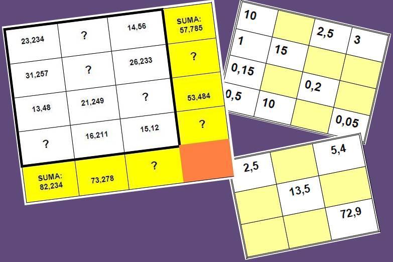 Operaciones Con Numeros Decimales Juegos Y Matematicas