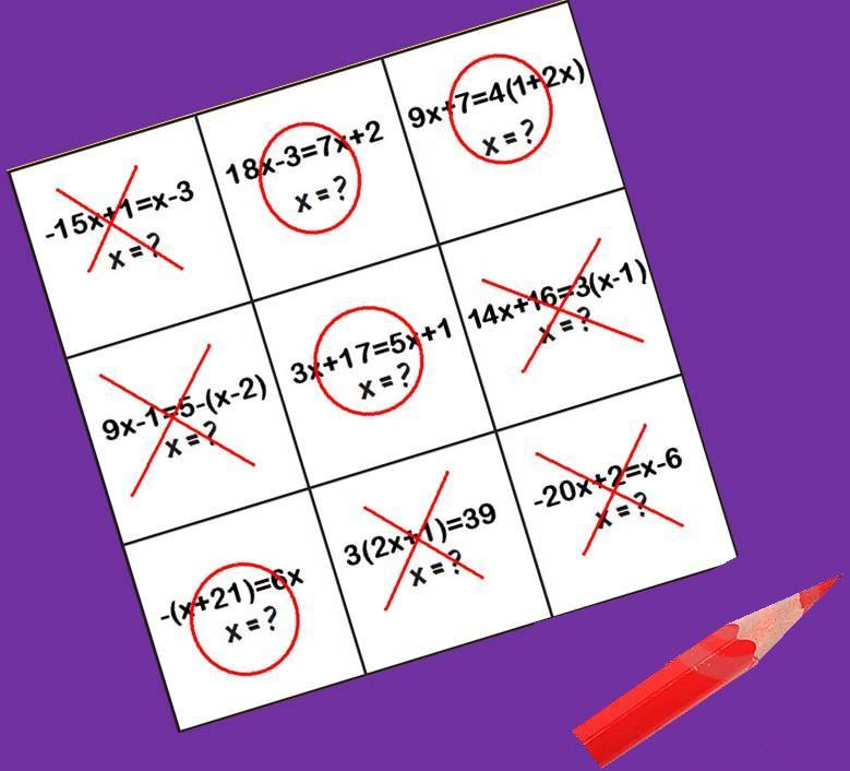 Tres En Raya De Ecuaciones Juegos Y Matematicas