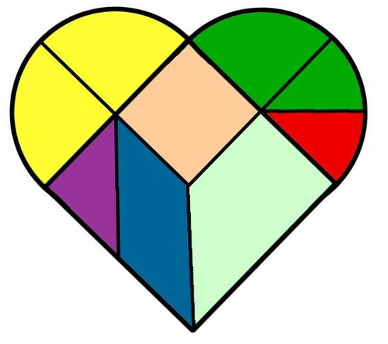 Tangram corazon juegos y matem ticas - Como hacer un corazon con fotos ...