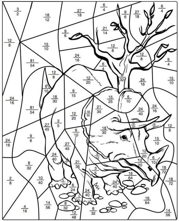 Fracciones Equivalentes El Dibujo Misterioso Juegos Y