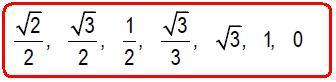 7 valores